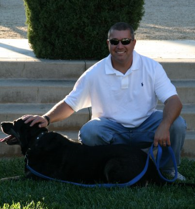 Jeff and his dog